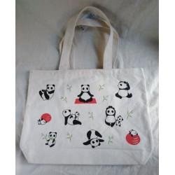 Borsa Canvas panda