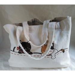 Canvas Tote Bag- Cats