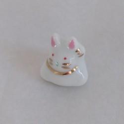 coniglio portafortuna bianco