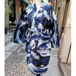 Short Yukata L blu