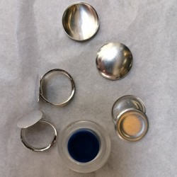 covered button Ring Kit 22mm