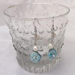 Plum flower Long earrings