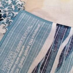 """Furoshiki 50cm Hokusai """"Onda"""""""