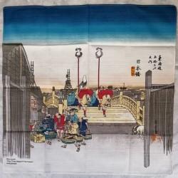 "Furoshiki 50cm Hiroshige ""Nihonbashi"""