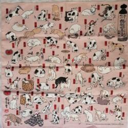 Furoshiki 50cm Cats of Kuniyoshi