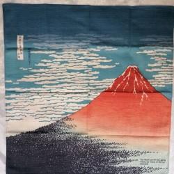 """Furoshiki 50cm Hokusai """"Fuji Rosso"""""""