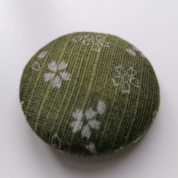 Covered button 4cm Green