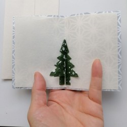 Christmas Card with origami tree