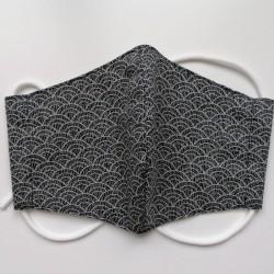 Mascherina giapponese in cotone, onda, per donne