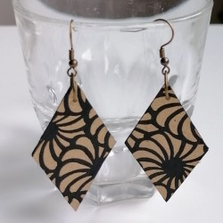 Diamond Paper earrings by japanese washi paper