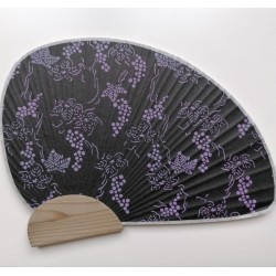 Japanese washi paper small fan-grapes