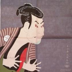 Furoshiki 50cm Attore di Sharaku in cotone