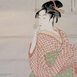 Furoshiki 50cm Utamaro Donna