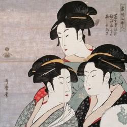 Furoshiki 50cm Tre Belle Donne di Utamaro