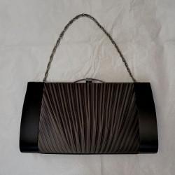 Black silk satin Bag